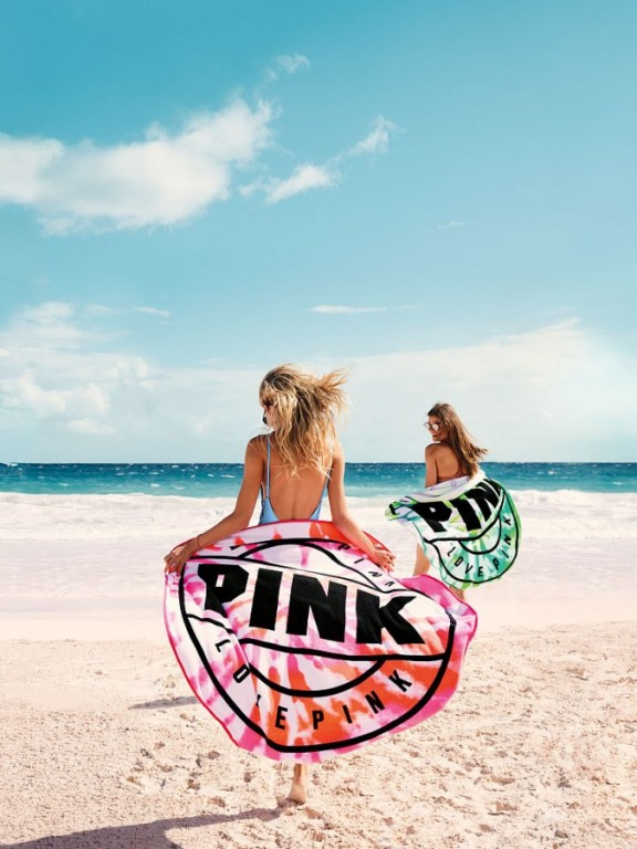 Plážová osuška Victoria's Secret PINK Circle Beach Towel