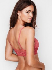 Růžová sexy krajková bralette podprsenka