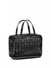 Velký kosmetický kufřík v černém lakovaném provedení
