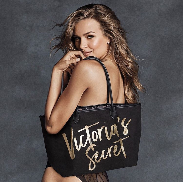 Victoria's Secret elegantní taška Black Gold Tote