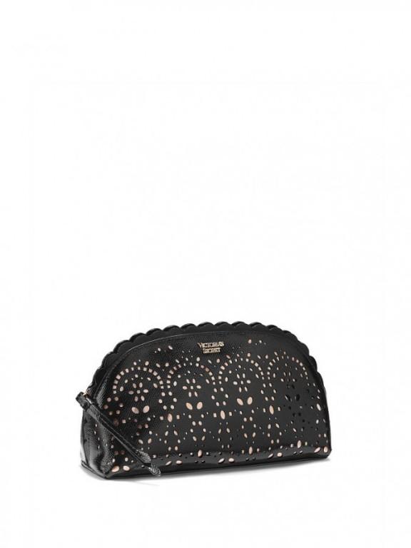 Victoria's Secret luxusní kosmetická taštička Petal Edge Beauty Bag černá