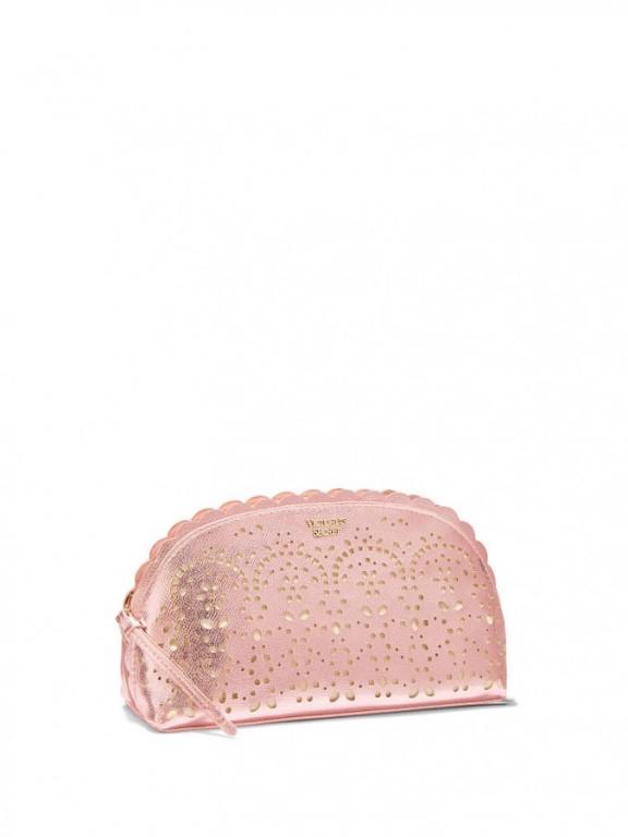Victoria's Secret luxusní kosmetická taštička Petal Edge Beauty Bag růžová