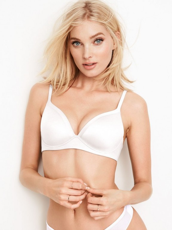 Victoria's Secret bílá podprsenka bez kostic Wireless Bra Body by Victoria