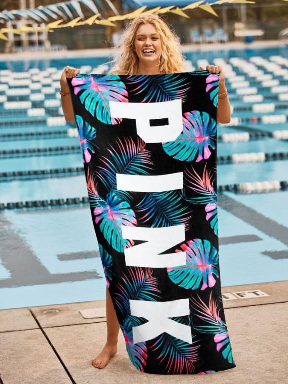 Victoria's Secret plážová osuška Beach Towel Palm Print