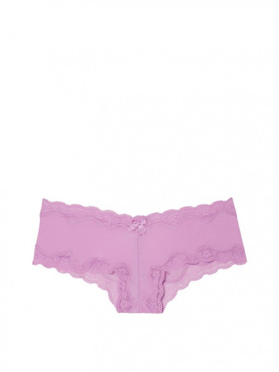Victoria's Secret luxusní fialové brazilské kalhotky Lace-Trim Cheeky