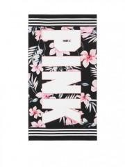 Plážová osuška Victorias Secret PINK s květinovým motivem