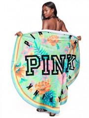 Kruhová osuška Victorias Secret PINK pestrobarevná