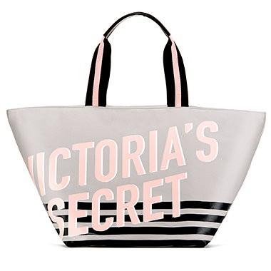 Victoria's Secret velká plátěná taška na zip Weekender Zip Tote
