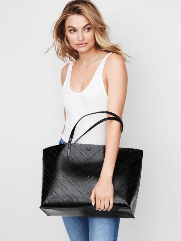 Victoria's Secret luxusní kabelka 2v1 Laser Cut Everything Tote černá