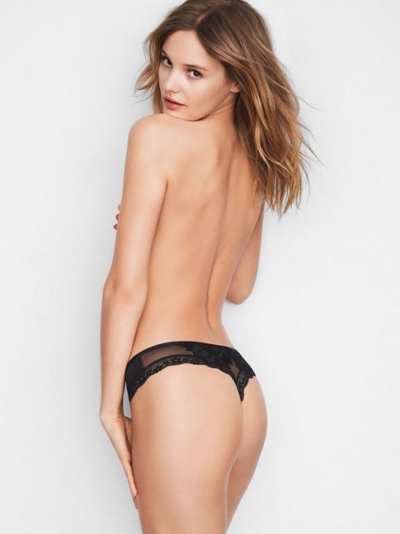 Victoria's Secret černá luxusní sexy tanga Lace Applique Thong