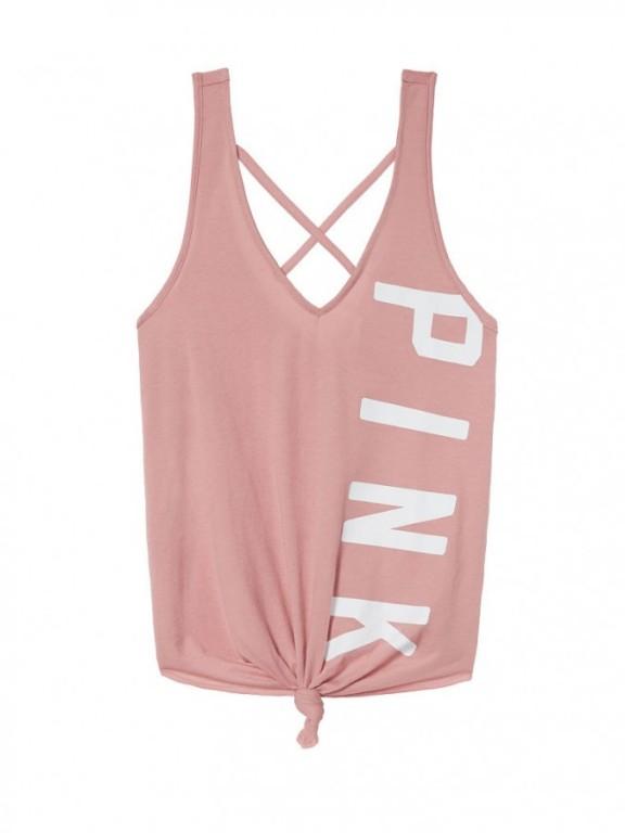 Victoria's Secret PINK stylové tílko Tie-Front Tank