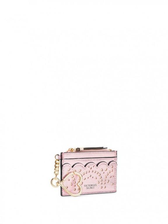 Victoria's Secret malé pouzdro na peníze a karty Card Case Petal Edge Rose Gold