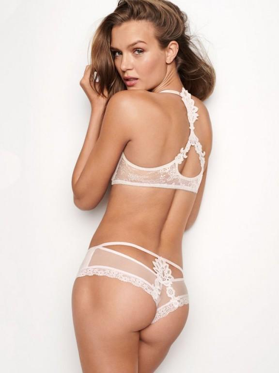 Victoria's Secret luxusní krémové kalhotky Lace Applique Cheeky