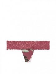 Bavlněná tanga Victorias Secret s jemnou krajkou v pase