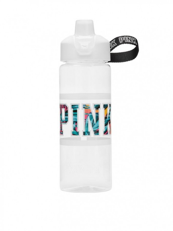 Victoria's Secret PINK velká lahev na pití Collegiate Water Bottle bílá