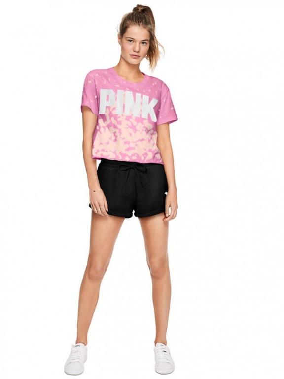 Victoria's Secret PINK růžové tričko Shrunken Tee