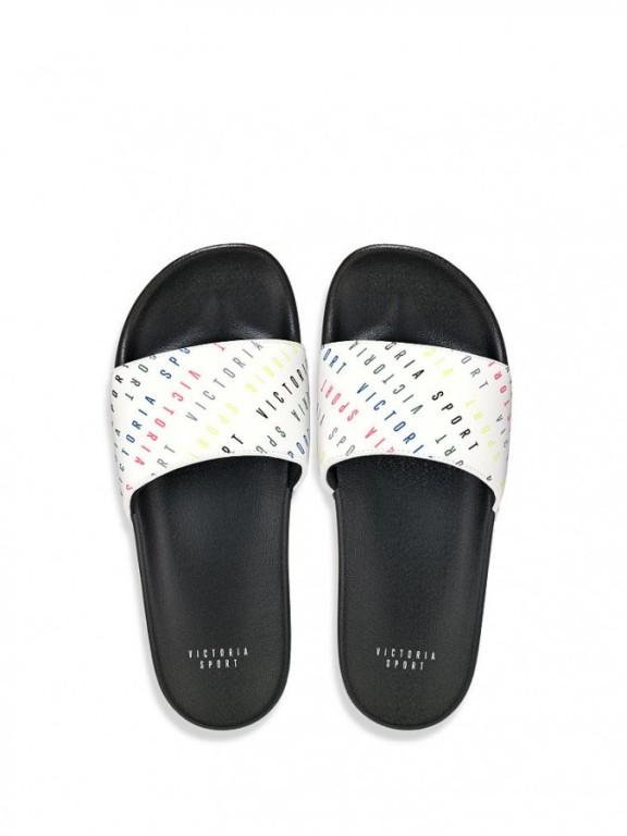 Victoria's Secret sportovní pantofle Slide Sandal White