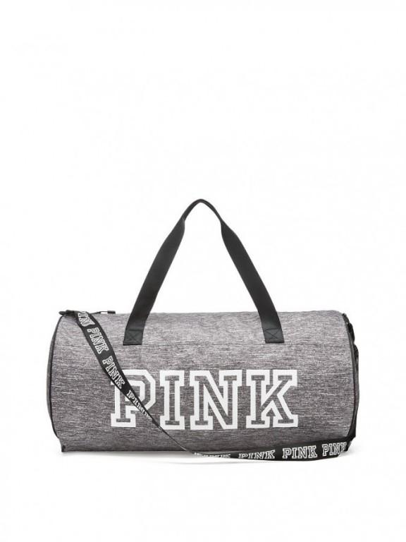 Victoria's Secret PINK sportovní taška Weekender Duffle šedá
