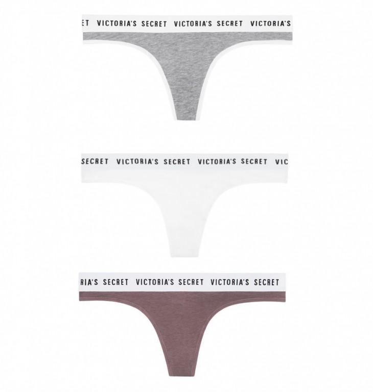 Victoria's Secret cenově zvýhodněné trojbalení tangových kalhotek vel. S