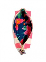 Victorias Secret pruhovaná kosmetická taška na zip