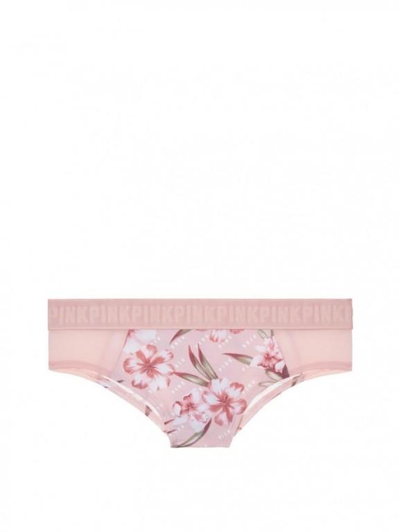 Victoria's Secret brazilské kalhotky Wide Logo Cheekster květinové