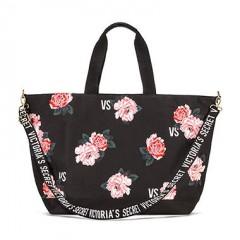 Victorias Secret plátěná taška s květinovým postiskem
