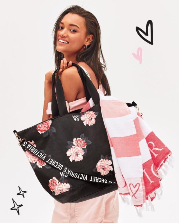 Victoria's Secret prostorná plátěná taška Weekender Tote