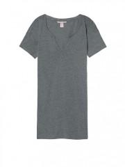 Pohodlná šedá noční košile z příjemného materiálu