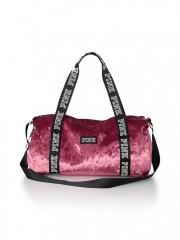 Sametová sportovní taška Victorias Secret PINK