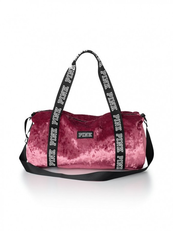 Victoria's Secret sametová sportovní taška Varsity Velvet Duffle