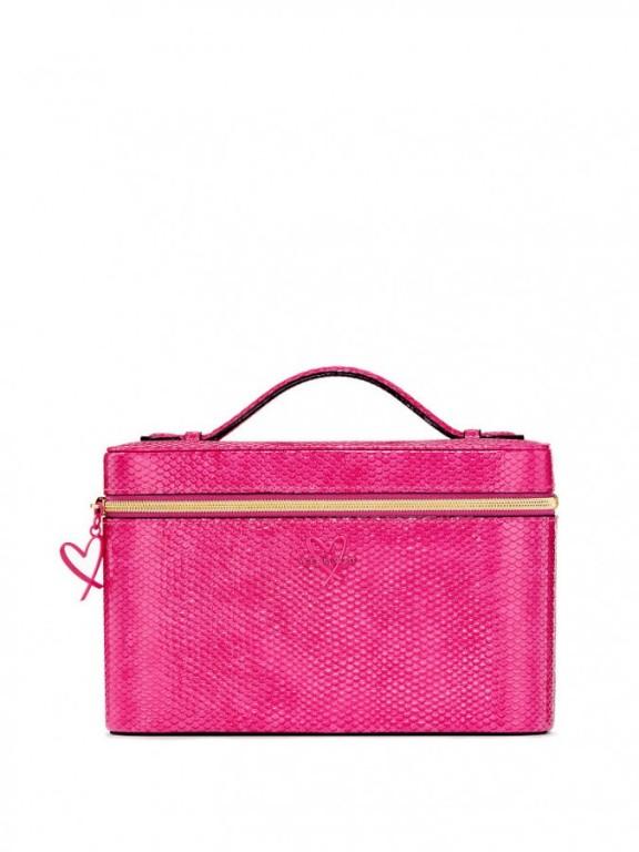 Victoria's Secret pevný kosmetický kufřík Vanity Case růžový