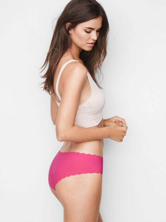 Victoria's Secret růžové bezešvé kalhotky No-show Hiphugger