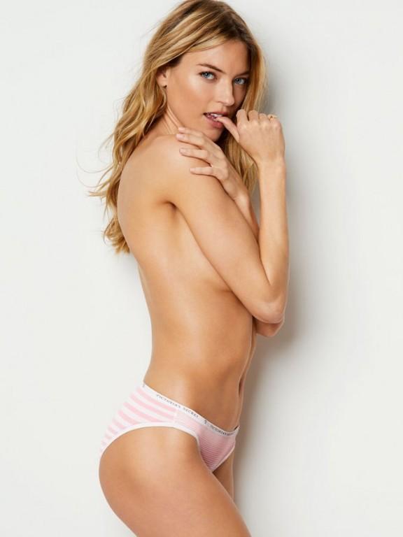 Victoria's Secret pohodlné proužkované kalhotky Bikini Panty