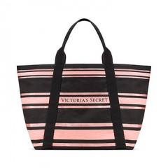 Pruhovaná plátěná taška na zip Victorias Secret