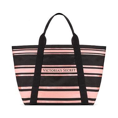 Victoria's Secret plátěná taška na zip Sparkle Tote