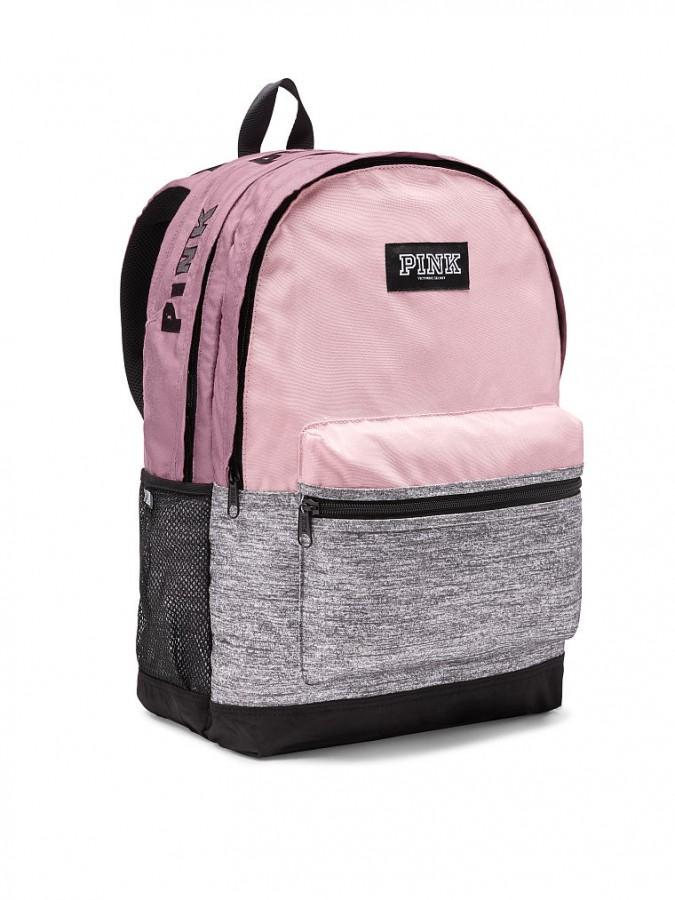 Victoria s Secret PINK pohodlný růžovošedý batoh Campus Backpack ... 71c0420784