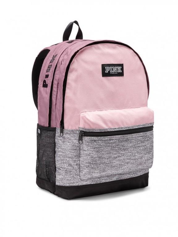 Victoria's Secret PINK pohodlný růžovošedý batoh Campus Backpack