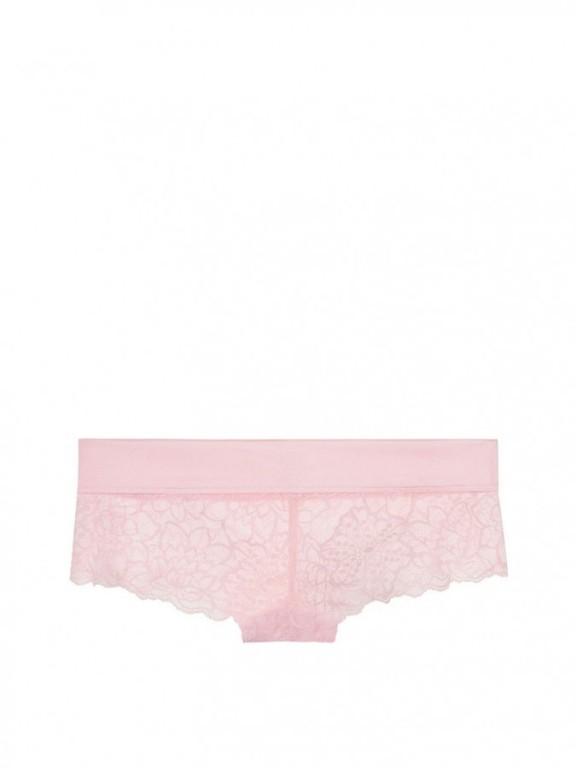 Victoria's Secret sexy krajkové kalhotky Floral Lace Cheekster růžové