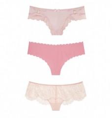 Set luxusních růžových kalhotek Victorias Secret