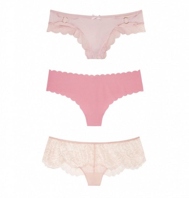 Victoria's Secret luxusní set růžových kalhotek vel. M
