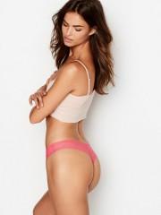 Růžová bezešvá tanga Victorias Secret