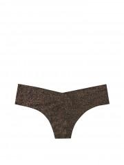 Victorias Secret černé bezešvé kalhotky s jemnou třpytkou