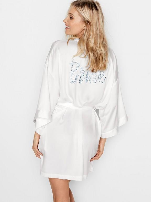 Victoria's Secret saténový župan pro nevěsty Dream Angels Bridal Robe