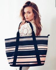Victorias Secret plátěná pruhovaná taška