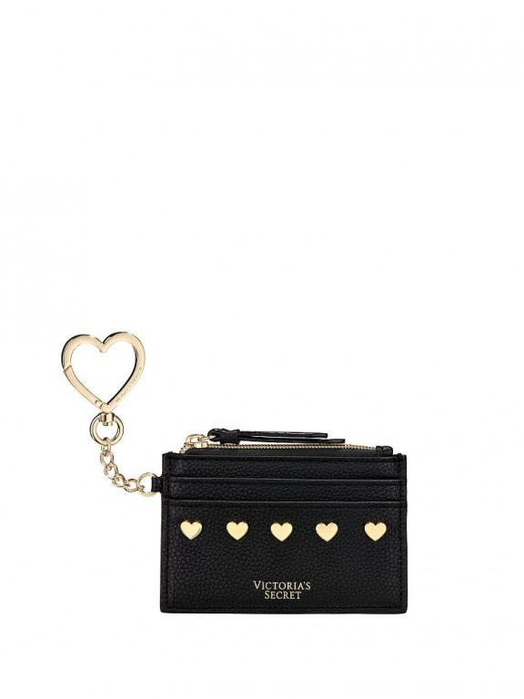 Victoria's Secret malé pouzdro na peníze a karty Heart Stud Card Case