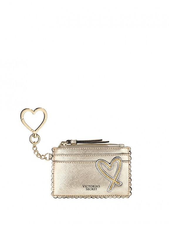Victoria's Secret malé pouzdro na peníze a karty Gold Card Case