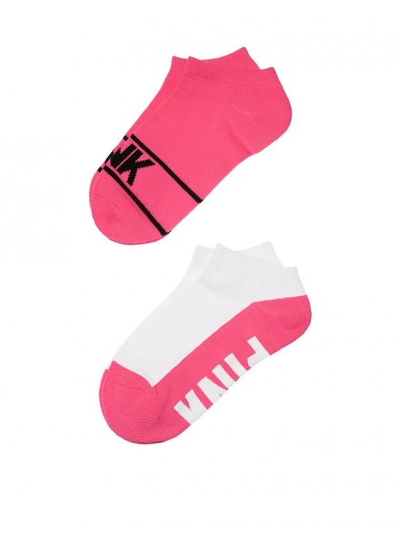 Victoria's Secret PINK kotníkové ponožky Ultimate Low Show Socks růžové