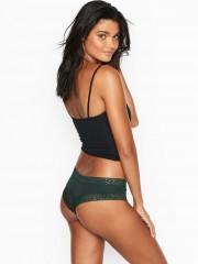 Victorias Secret tmavě zelené cheeky kalhotky