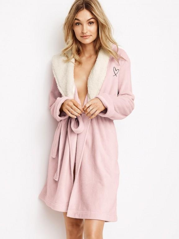 Victoria's Secret hřejivý župan The Cozy Hooded Short Robe