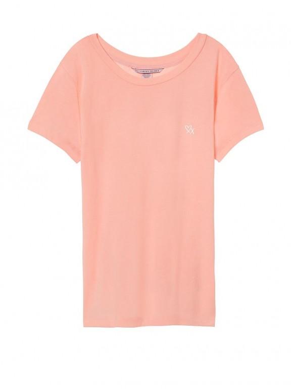 Victoria's Secret růžové triko na spaní Crewneck Sleep Tee